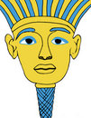 Egyptian Face Mask Illustration Stock Image