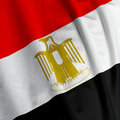 Egyptian Flag Closeup Royalty Free Stock Photo