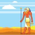 Egyptian God Vector Eagle Head Golden Vector Royalty Free Stock Photo