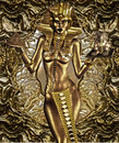 Egyptian goddess balances gift art architecture her people Stock Images