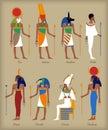Egyptian gods icons
