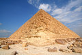 Egyptian great pyramid the of khufu Stock Photography