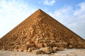 Egyptian great pyramid the of khufu Stock Image