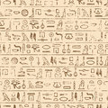 Egyptian Hieroglyphics Background Royalty Free Stock Photo