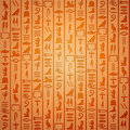 Egyptian hieroglyphics background Royalty Free Stock Photo