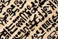 Egyptian hieroglyphics texture Royalty Free Stock Photo