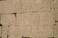 Egyptian images and hieroglyphs engraved on stone Royalty Free Stock Photography