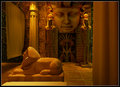 Egyptian interior space art design Stock Photography