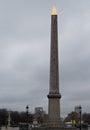 Egyptian luxor obelisk obã lisque de louxor in place de la concorde paris Stock Photography