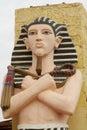 Egyptian man statue Royalty Free Stock Photo