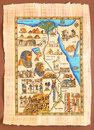 Egyptian map on ancient papyrus queen cleopatra Royalty Free Stock Image