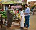 Egyptian Market Scene Stock Photography