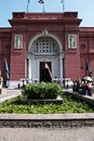 Egyptian museum entrance to the of cairo Stock Images