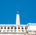 Egyptian obelisk in Piazza di Spagna in Rome Royalty Free Stock Photo