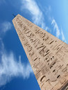 The egyptian obelisk in piazza dle popolo rome italy in a clear sunny day Stock Photography