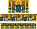 Egyptian ornament with a scarab. Antique pattern. Stock Photo