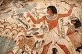 Egyptian painted art Stock Photo