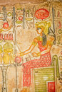 Egyptian painting on papyrus ancient hand Stock Photography