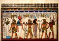 Egyptian painting on papyrus Royalty Free Stock Photo