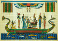 Egyptian papyrus painting Royalty Free Stock Photo
