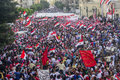 Egyptian protest against morsy alexandria sidi gaber june Royalty Free Stock Photos