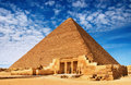 Egyptian pyramid Royalty Free Stock Images