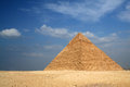 Egyptian pyramid of khafre with nice blue sky Stock Image