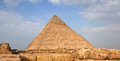 Egyptian pyramid of khafre with nice blue sky Stock Photo