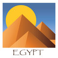 Egyptian pyramids Royalty Free Stock Photo