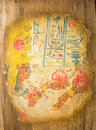 Egyptian queen cleopatra ancient hand painting on papyrus Stock Images