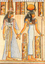 Egyptian queen cleopatra ancient parchment Royalty Free Stock Photography