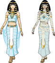 Egyptian Queen And Female Mummy