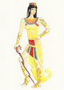 Egyptian queen watercolor illustration of woman Stock Photo