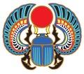 Egyptian scarab beetle Royalty Free Stock Photo