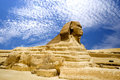 Egyptian Sphinx and Pyramid Royalty Free Stock Photo