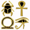 Egyptian symbols Stock Photography
