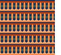 Egyptian traditional ornament. Seamless pattern with geometric ornament.