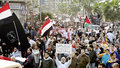 Egyptians demonstrating against army brutality Stock Photos