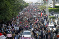 Egyptians demonstrating against army brutality