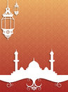 Eid background illustration based on the theme of ramadan and islamic event Stock Images