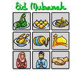 Eid Mubarak Doodle Symbol