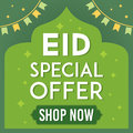 Eid Mubarak sale vector illustration