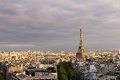 Eiffel skyline afternoon Royalty Free Stock Photo