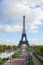 Eiffel tour and fountains of trocadero paris france Stock Photo