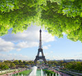Eiffel tour and from Trocadero, Paris Royalty Free Stock Photo
