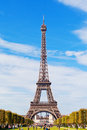 Eiffel tower against the blue sky and clouds paris with most visited monument of france with visit Royalty Free Stock Photography