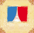 Eiffel tower artistic background. Royalty Free Stock Images