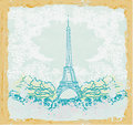 Eiffel tower artistic background vector illustration Stock Image