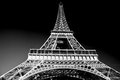 Eiffel tower in artistic tone black and white paris france european landmarks Stock Photography