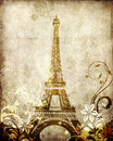 Eiffel Tower background Stock Images